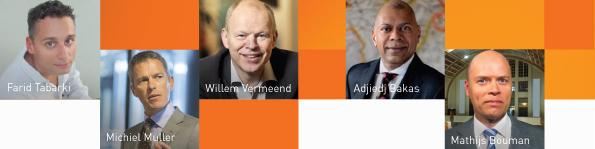 De sprekers tijdens de Week van de Ondernemer in het MartiniPlaza, Groningen